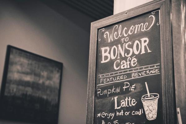 Bonsor Café chalk board