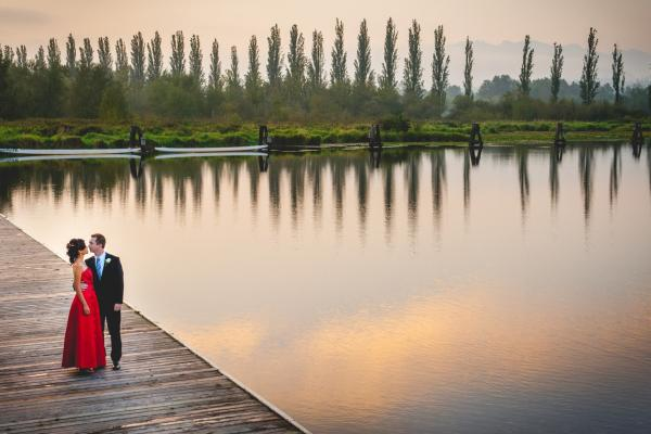 Couple at Burnaby Lake Pavilion
